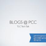 Blogs @ PCC