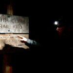 Joe at the trailhead in the dark